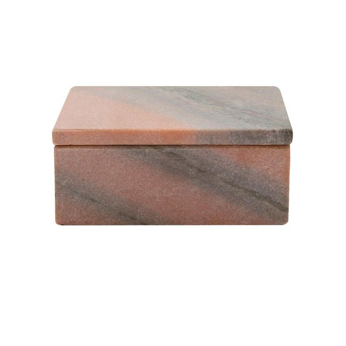 boite bijoux marbre rose