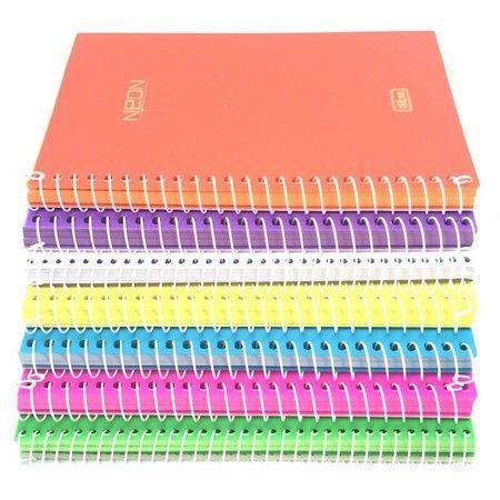 Caderno Neon Sem Pauta - Médio