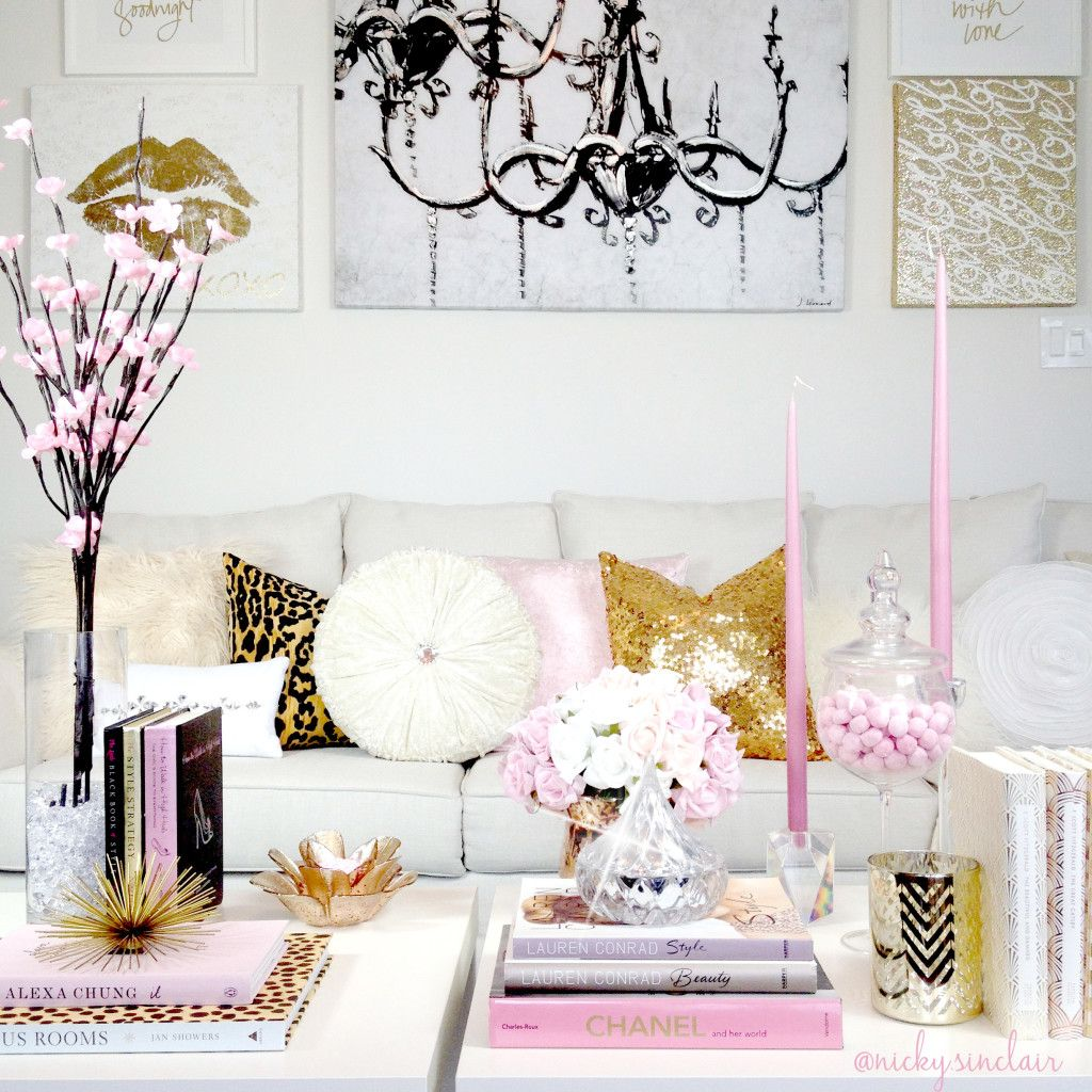 Home Style - Nicky Sinclair ~living room ~ soft blush tones of pink ...
