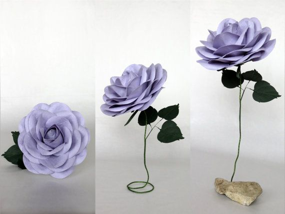 Giant paper flower with flexible stem lilac oversized paper rose giant paper flower with flexible stem lilac oversized paper rose mightylinksfo