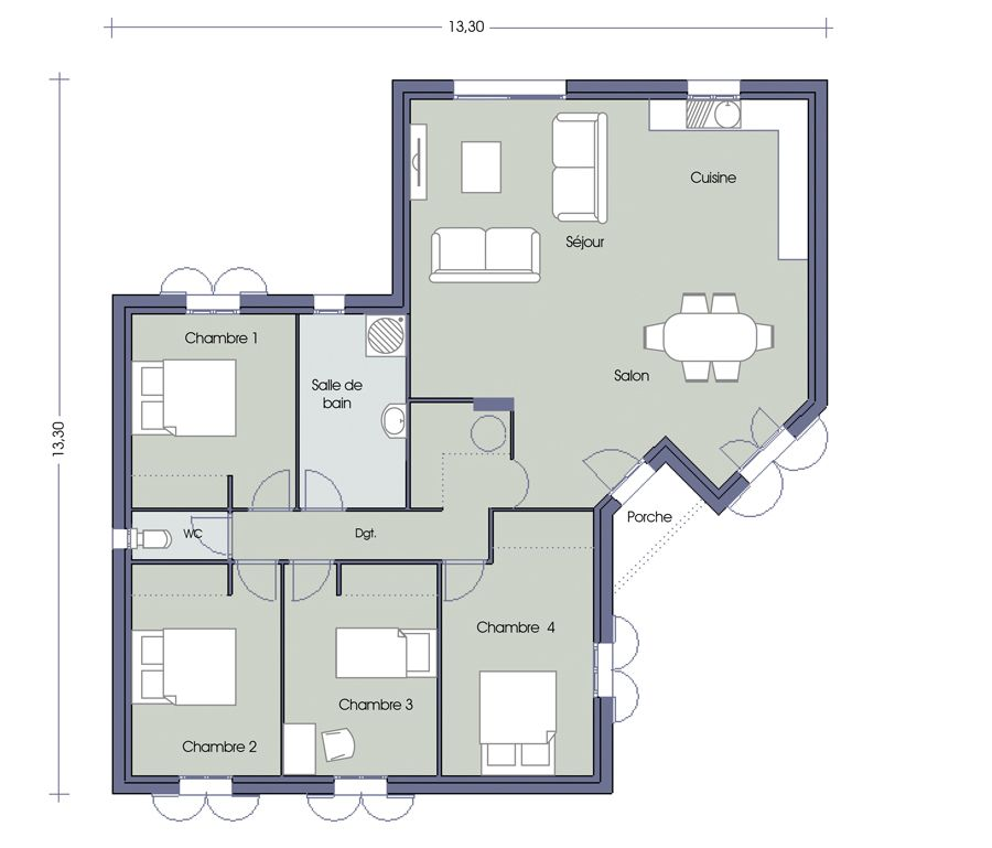 Plan De Maison 2 Pieces Maison Design