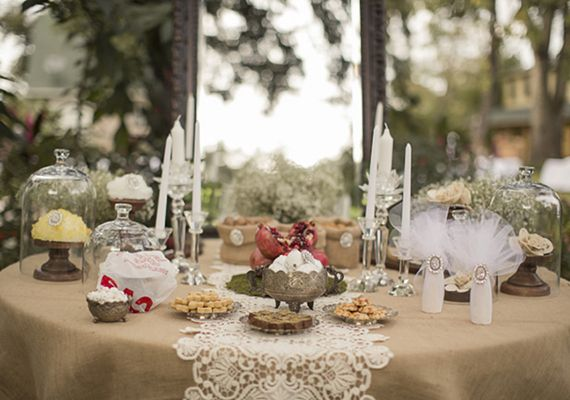 Rustic Vintage Wedding Reception Decor