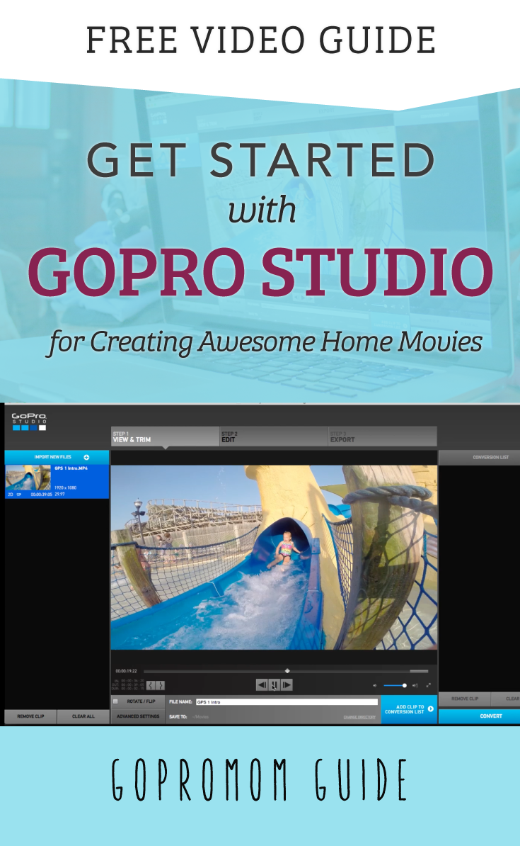 Diy Drone Software Gopro Studio Tutorials Getting Started Guide Gopro Gopro