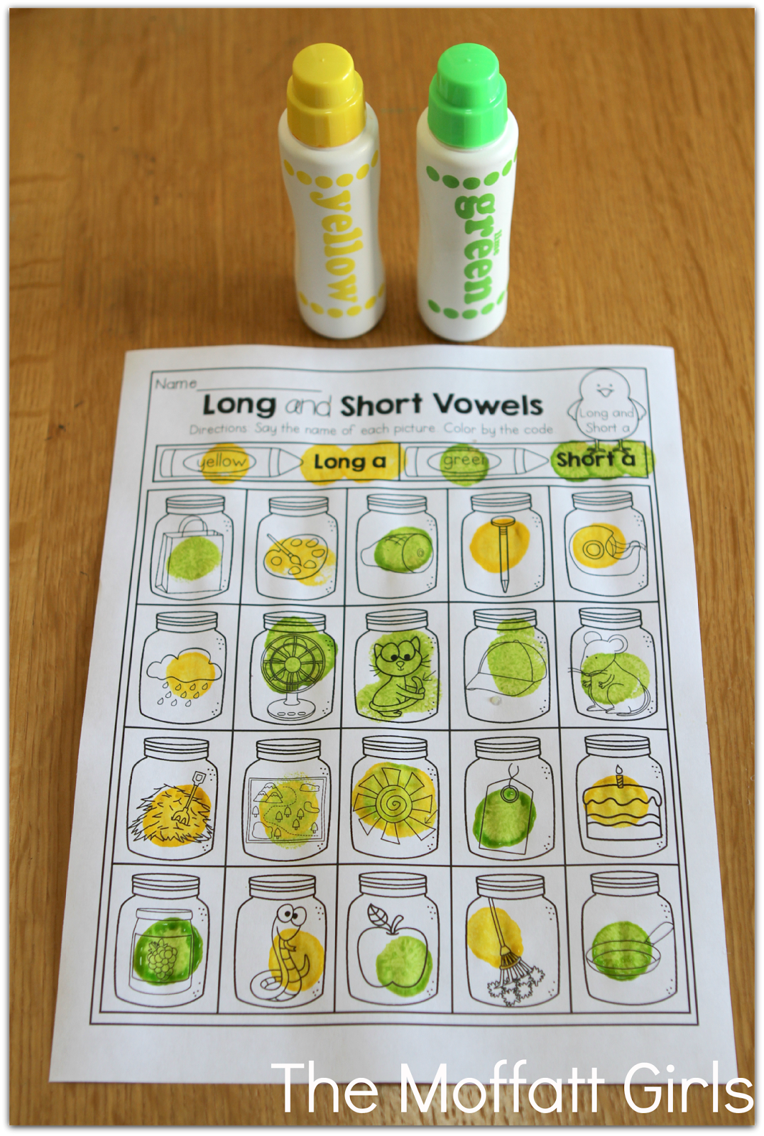 Long And Short Vowel Practice Use Dot Markers To Make