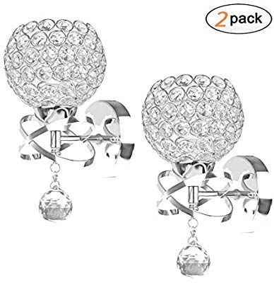 DDSKY 2-Pack Modern Luxury Crystal Wall Sconce Lighting ... on Ultra Modern Wall Sconces id=47162