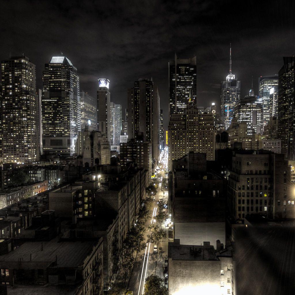 Dark Night City View Landscape Ipad Wallpapers The Best