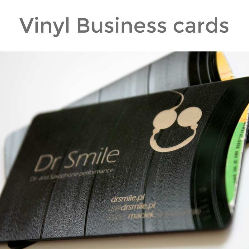 Business card made of vinyl record, Available in giftsfordjs.com ...