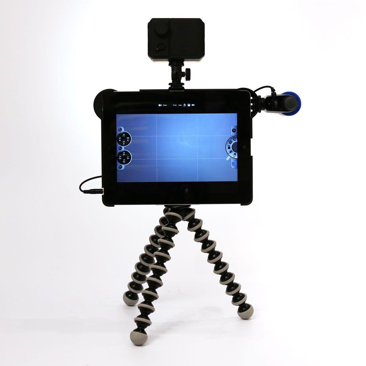 Makayama Kit med Gorillapod er et komplet video studie.  Optag, rediger og upload dine videoer fra en og samme enhed. Genialt til Flipped learning, Stop and Motion og Animations film.