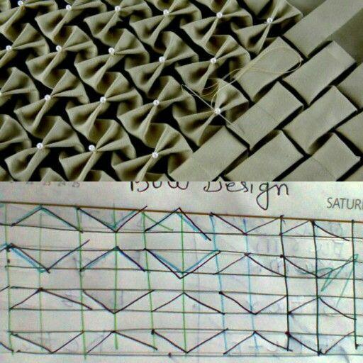Bow design graph | Smocking design | Smocking tutorial
