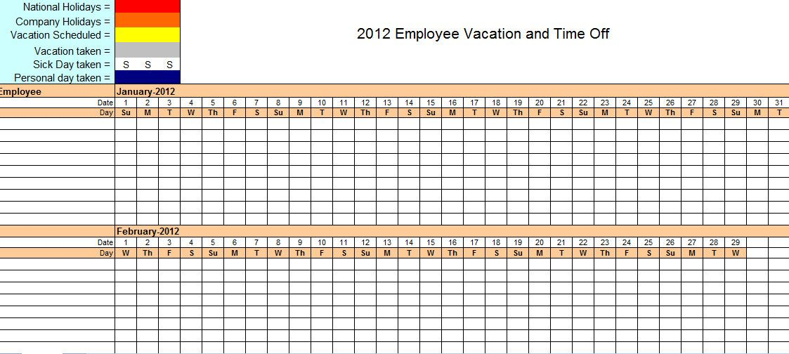 This Employee Vacation Tracking Template Will Help You Stay On Top - Time off schedule template