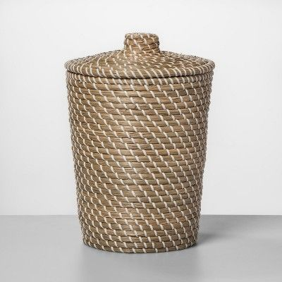 Convey A Specific Bathroom Style All The Way Down To Your Trash Can With The Solid Bathroom Wastebasket From O Bathroom Waste Basket Waste Basket Boho Bathroom