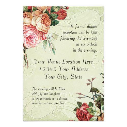 Garden Wedding Reception English Rose Bouquet, Vintage n Modern - best of invitation english