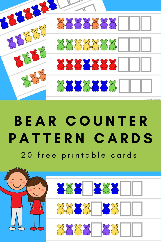 Bear Counter Pattern Cards Free Printable Hey Kelly Marie Preschool Patterns Card Patterns Pattern Activities [ 1500 x 1000 Pixel ]