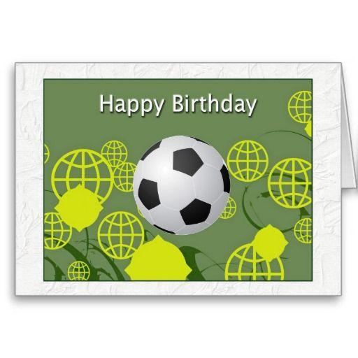 Happy Birthday World Cup Soccer Card Soccer Birthday Party Ideas
