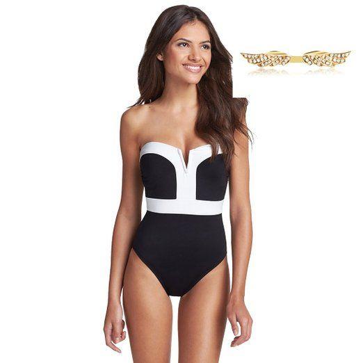 BYD da Donna Bikinis Bordo Bianco Costumi interi Costumi da bagno ...