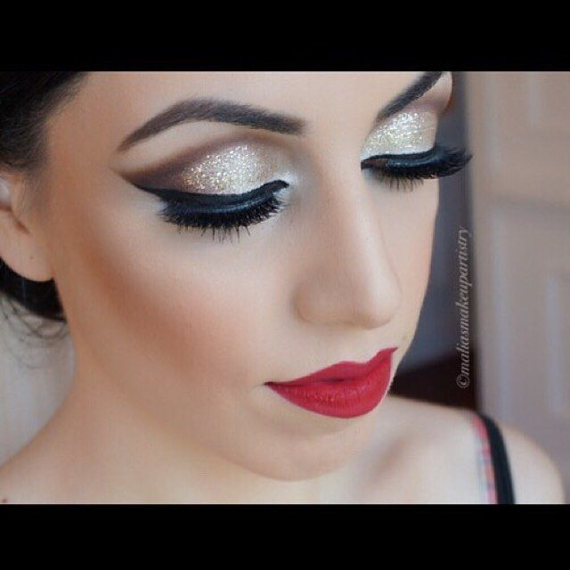Classic beauty @maliasmakeupartistry wearing #MotivesLBD Gel Liner for this glam!  #MotivesCosmetics #glam #beauty ・・・ My #beautiful #afghanbride #throwbackthursday ❤️❤️❤️ @houseoflashes in 'Starlet' @anastasiabeverlyhills Dipbrow in dark brown @motivescosmetics LBD Gel Liner @urbandecaycosmetics 'Midnight Cowboy' ✨
