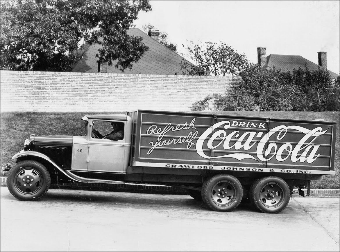 Ford model aa truck operated by the birmingham alabama bottler crawford