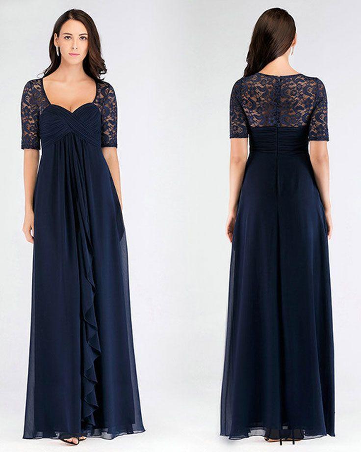 Aline mother of the bride dresses elegant chiffon short