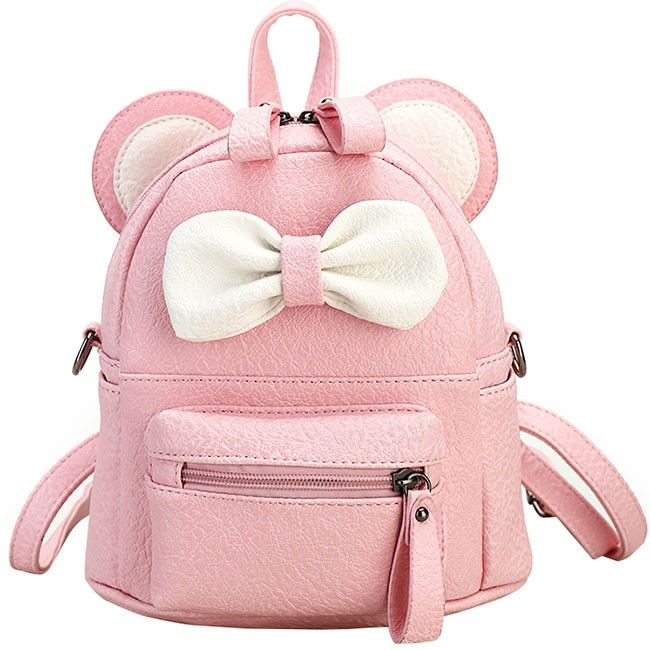 320bd7349c14 How nice Cute Mini Bow Kitty Ears Small Cartoon School PU Backpacks ! I like  it ! I want to get it ASAP!
