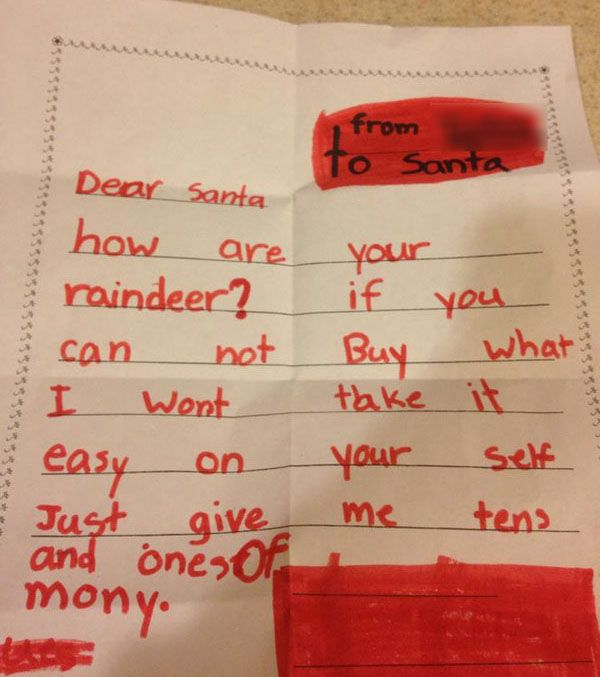 The  Funniest Santa Letters Kids Have Ever Written  Holidays