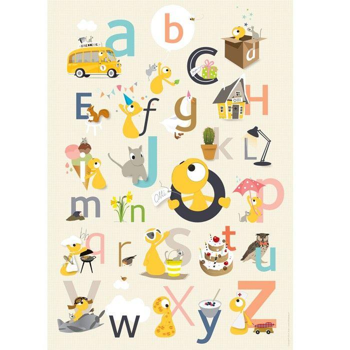 Olli + Jeujeu | ABC poster 50 x 70 - Interieur | De leukste ...