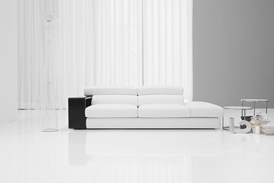 Il divano Best by Samoa. #white #bianco #divani #furniture #pelle ...