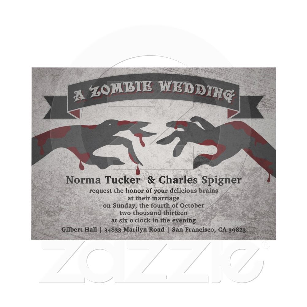 A Zombie Wedding Invitation | Wedding Ideas | Pinterest | Weddings ...