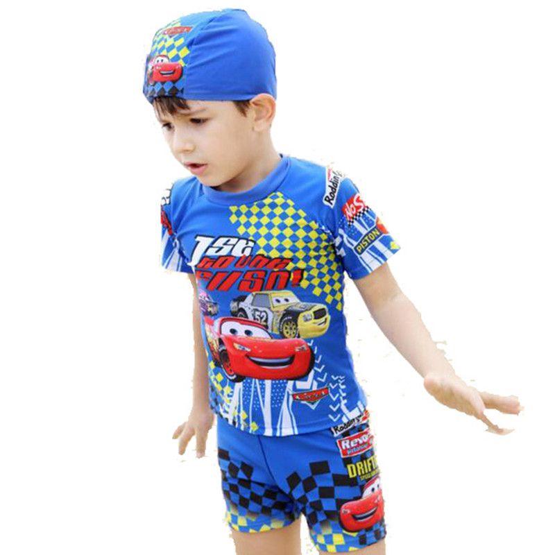 2016 ni os del traje de ba o car cter imprimir chicos ropa for Ropa de bano infantil