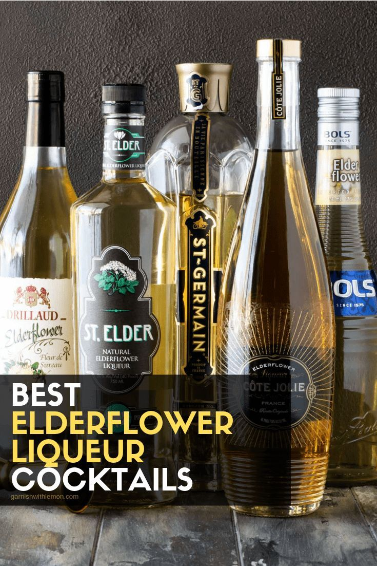 Learn everything you need to know about Elderflower Liqueur - including what it is, how to use it and sample some of the BEST Elderflower cocktail recipes around! #elderflower #elderflowerliqueur #cocktails #drinks #cocktaildrinks