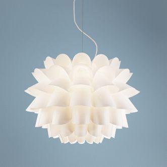Possini Euro Design White Flower Pendant Chandelier Light Source