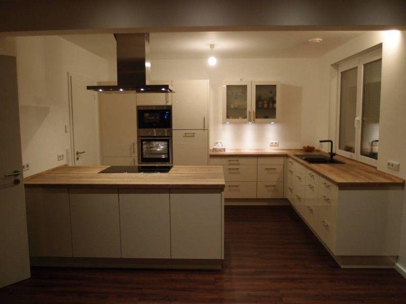 Unsere neue Küche ist fertig Der Hersteller ist Nobilia - Nobilia - Küchen Weiß Hochglanz