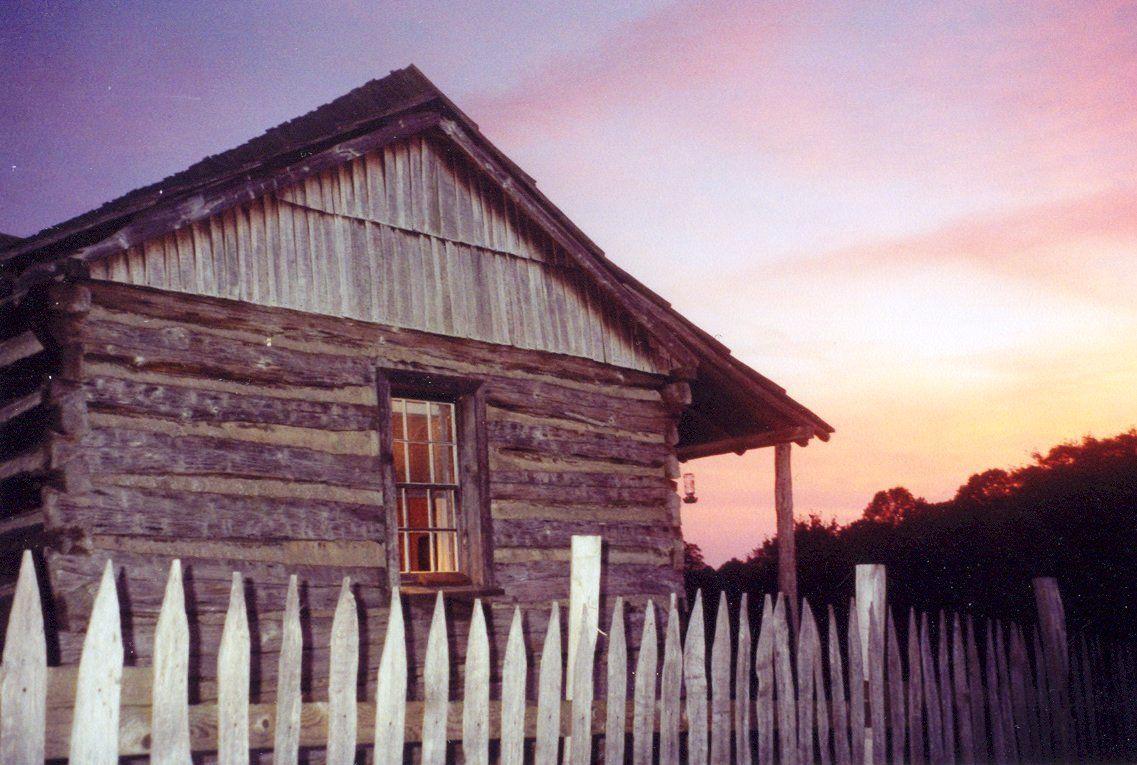 Etonnant Hensley Settlement Cabin At Sunset   Cumberland Gap National Historical Park