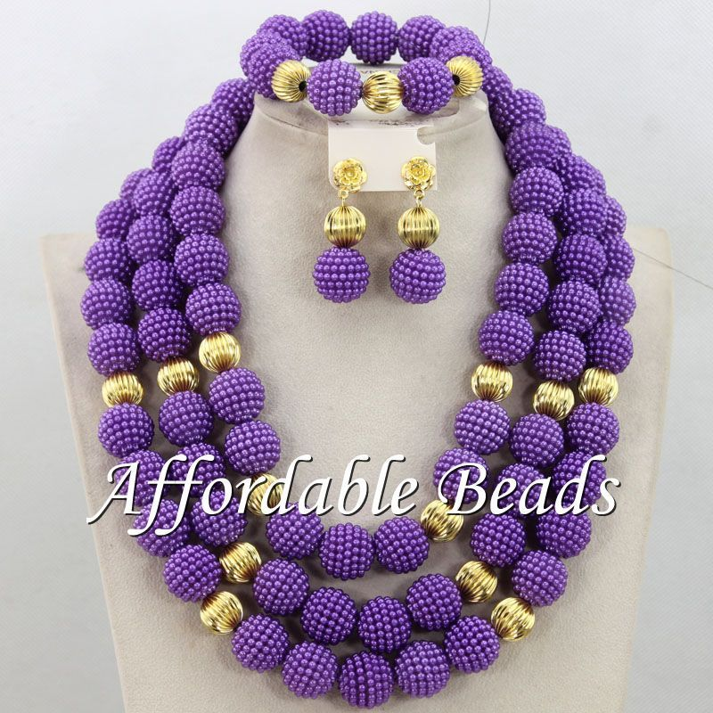 Pink Nigerian Wedding Beads Pretty African Jewelry Set Popular ...