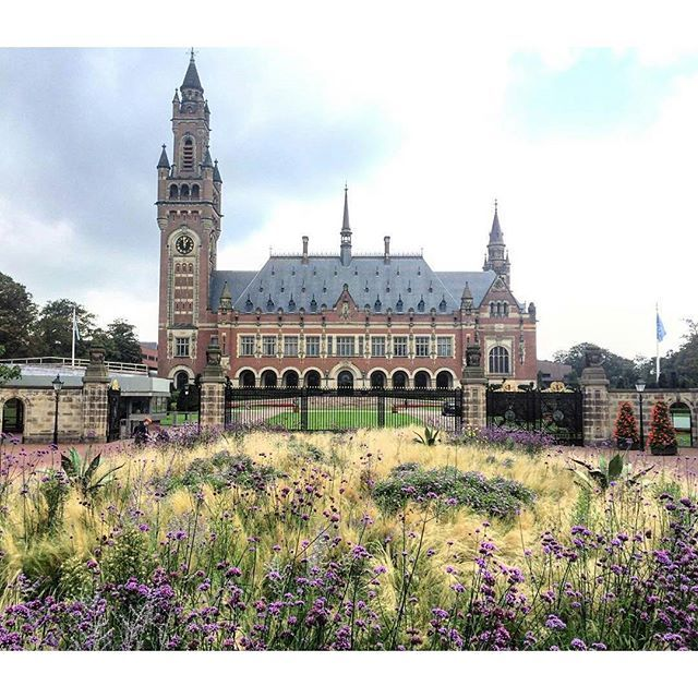 The Peace Palace in The Hague, photographed by CES student @hannahbinder.