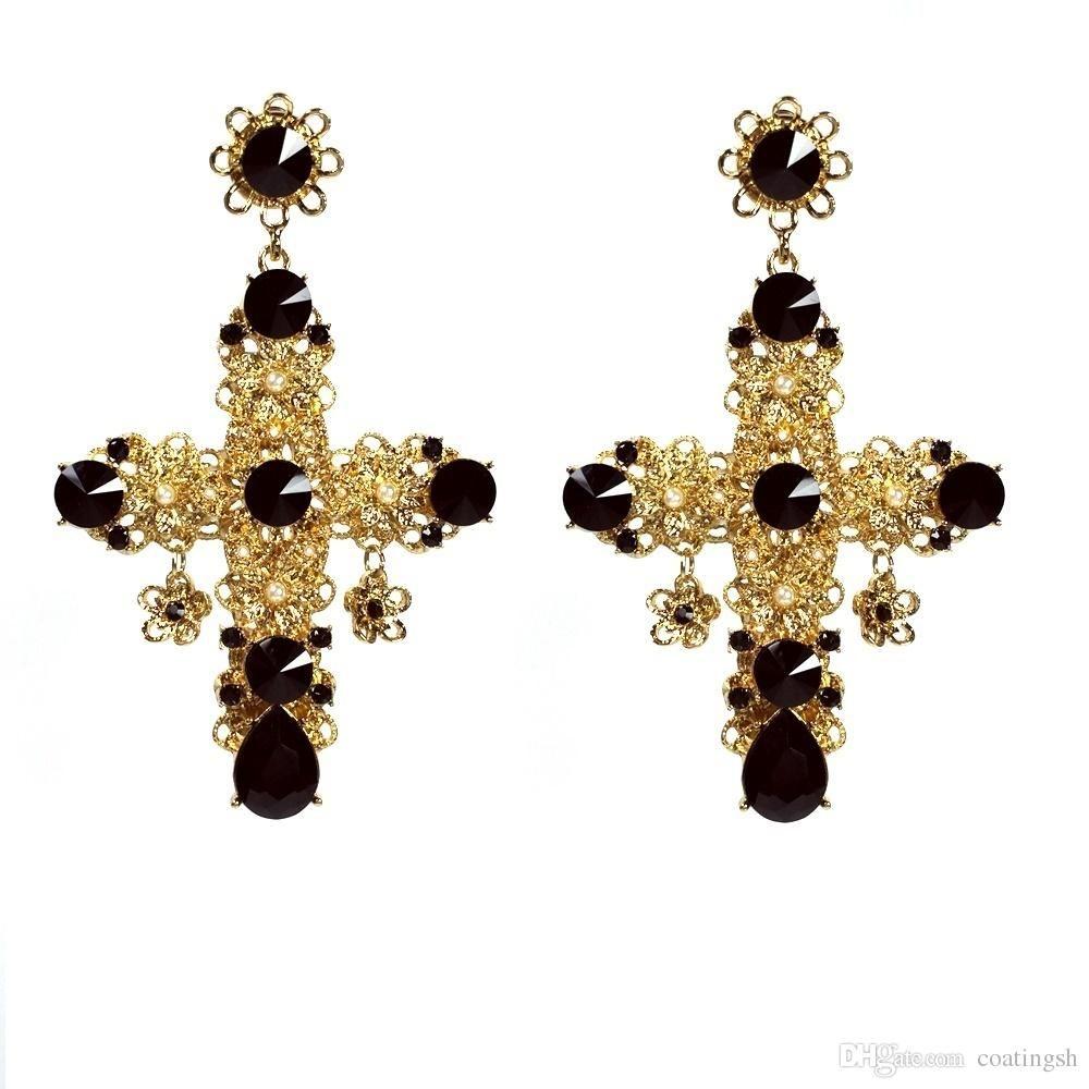 2fc3f169e Related image | jewellery 3 | Black earrings, Cross earrings, Earrings