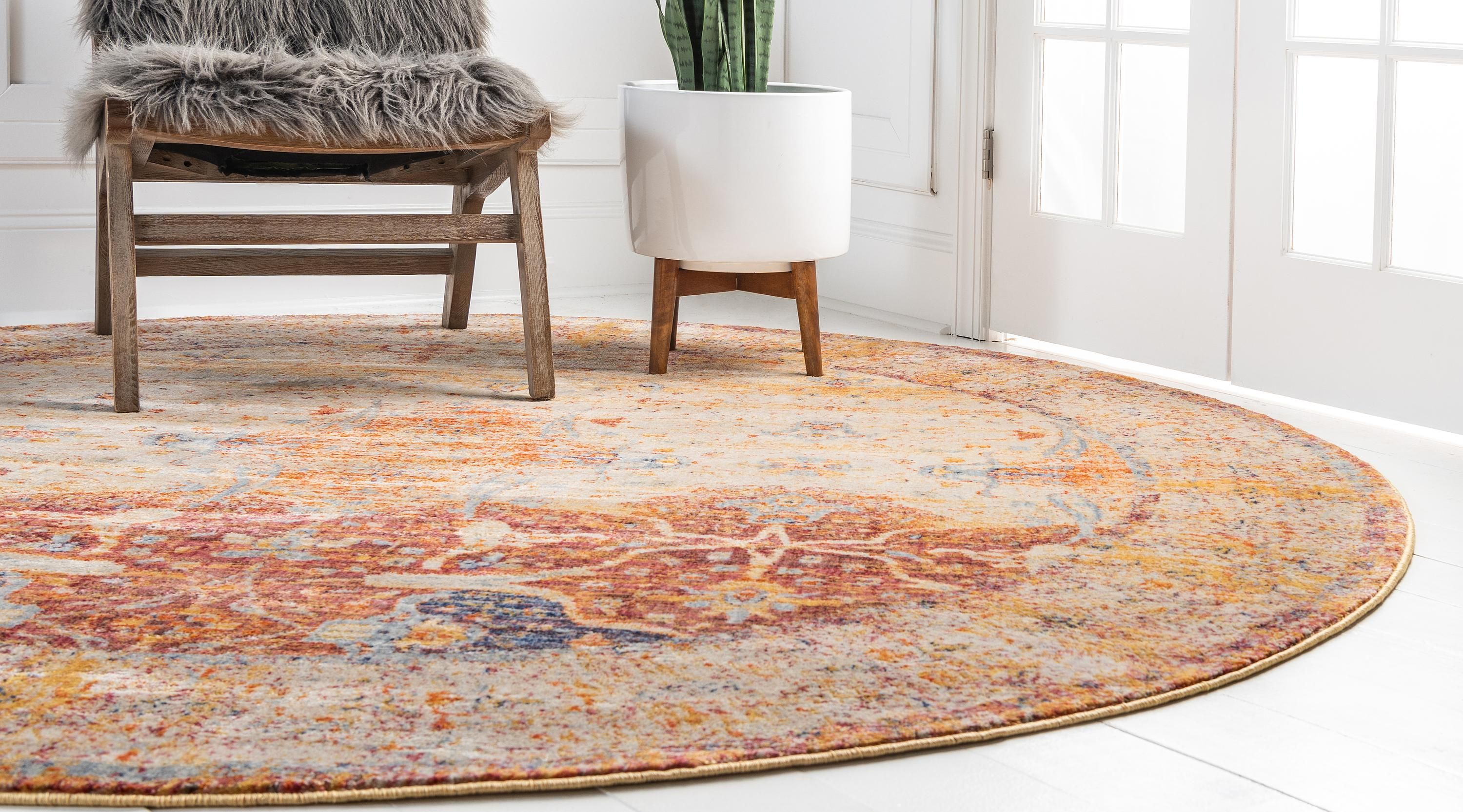 Multicolor 8 X 8 Berkshire Round Rug Sponsored Multicolor