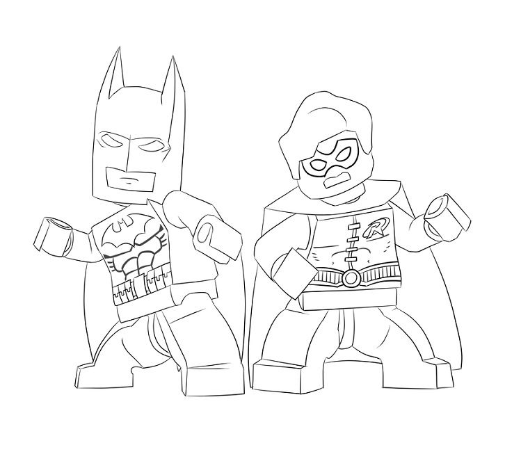 Lego Batman Coloring Pages Games
