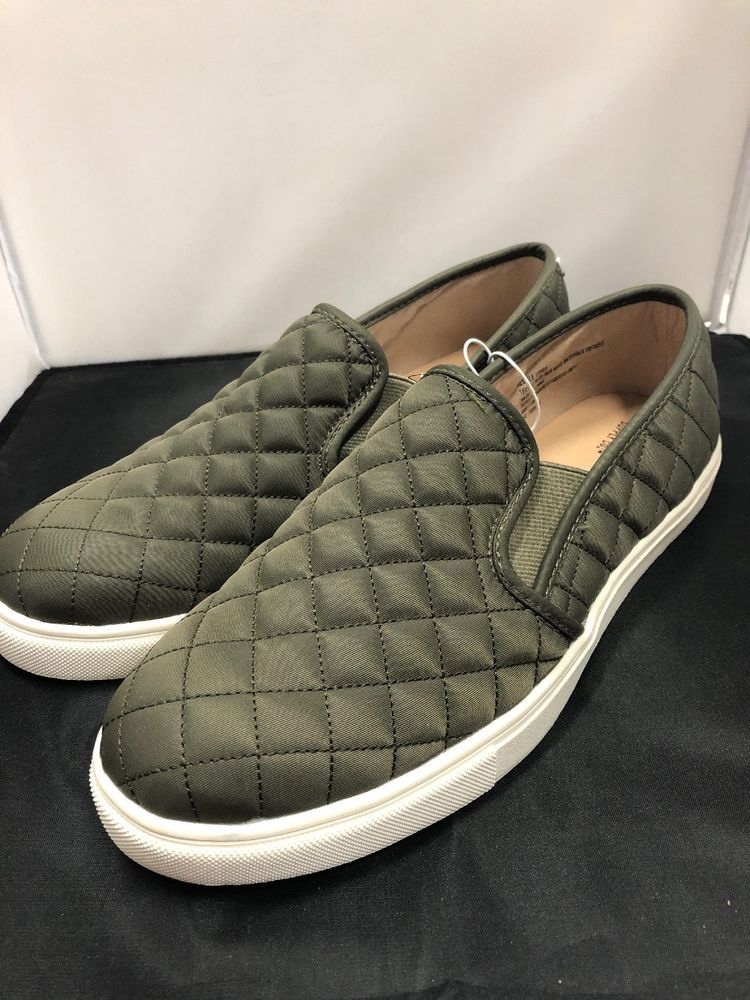 Mossimo Green Quilted Slip On Sneaker