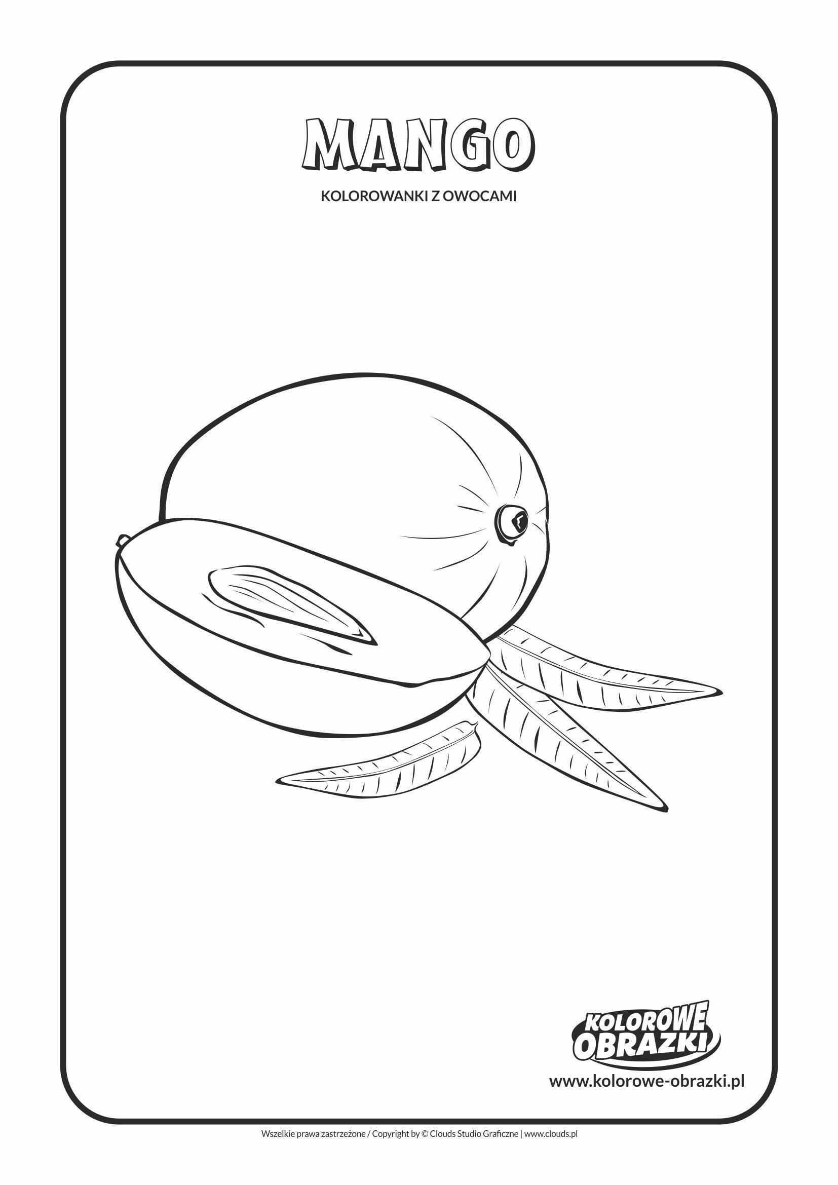 Mango Kolorowanki Dla Dzieci Coloring Pages Toddler Coloring Pages For Kids
