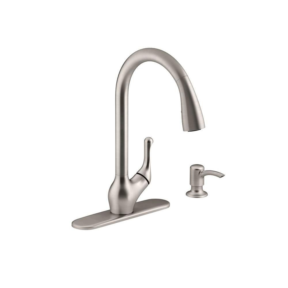 Barossa Pull Down Kitchen Sink Faucet With Soap Lotion Dispenser