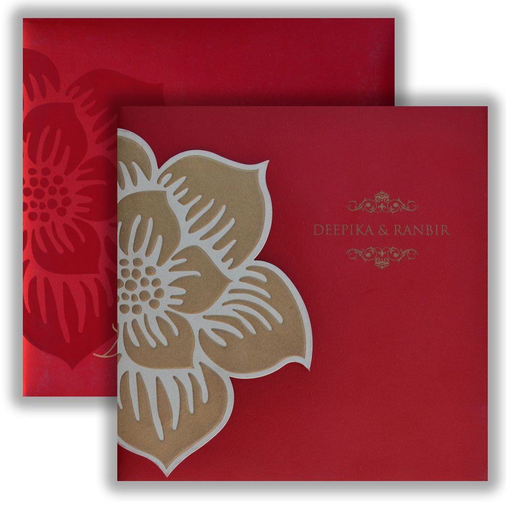 Red color Square Wedding Card | Wedding & Invitation Cards ...