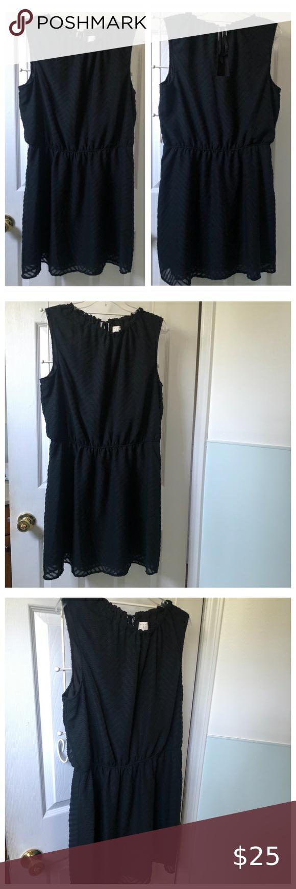 A New Day Sleeveless Black Dress Xl Black Sleeveless Dress Black Dress A New Day [ 1740 x 580 Pixel ]