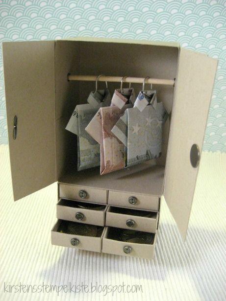 Fabulous Kirstens Stempelkiste Kleiderschrank als Geldgeschenk