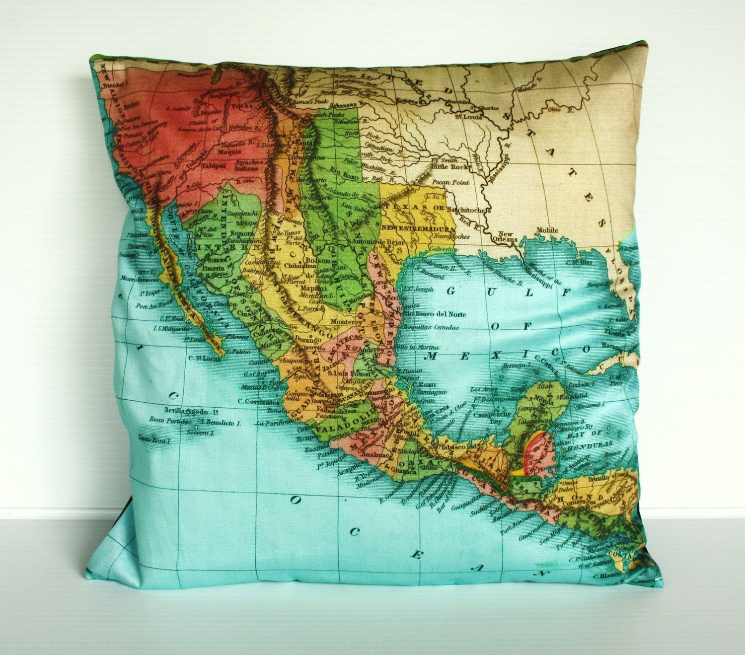 Cushion cover map pillow mexico map cushion throw pillow organic mexico map cushion atlas organic cotton cushion covers pillow cushion 16 inch via etsy gumiabroncs Choice Image