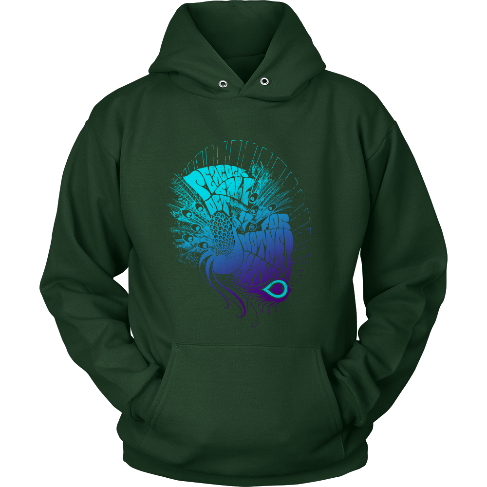 Psychedelic Peacock Unisex Hoodies Hoodies Shirts For Girls [ 1000 x 1000 Pixel ]