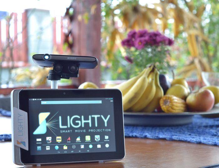 Lighty – World's First Robotic HD Laser Projector | WorthPin