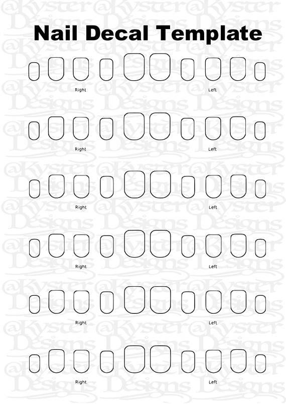 28+ Printable nail decal template ideas