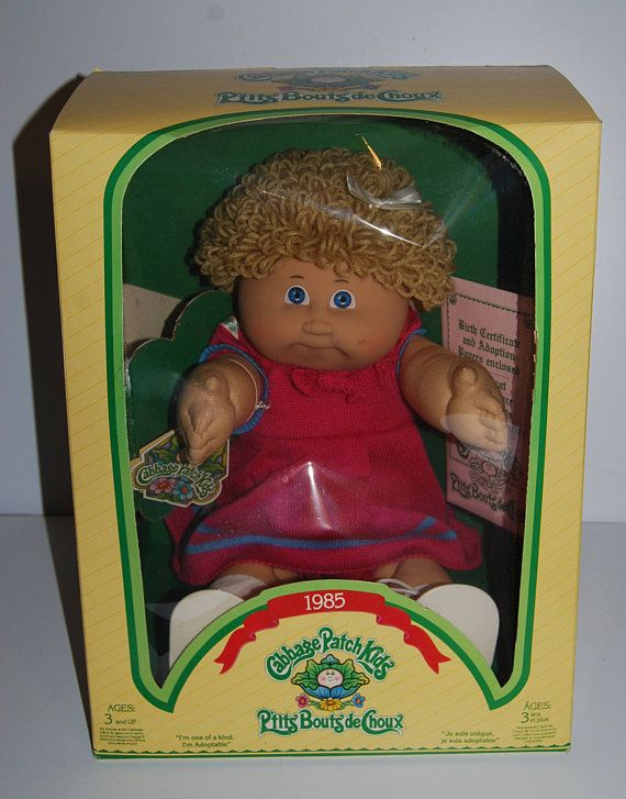 80s Cabbage Patch Kids 1985 New In Box Blue Eyes Blonde Pink Etsy Cabbage Patch Kids Cabbage Patch Babies Original Cabbage Patch Dolls