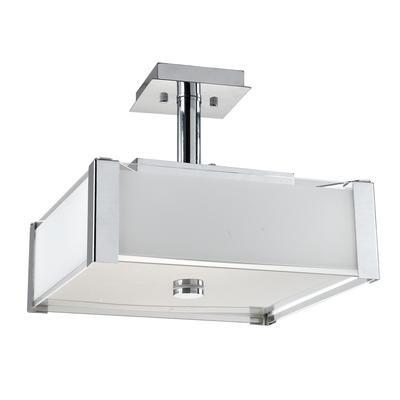 Shawson Lighting - 14-1/4 Inches Semi-Flush Mount, Chrome ...