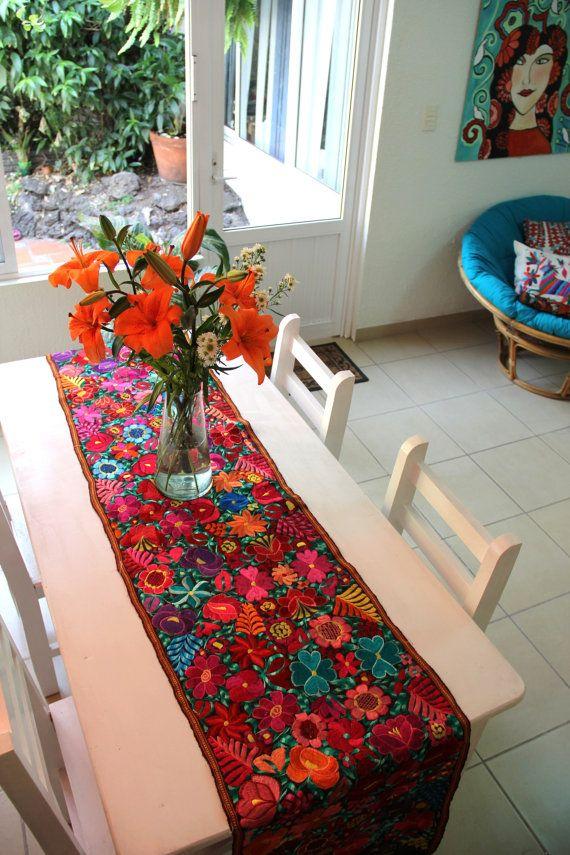 Camino de mesa decoracion casa pinterest chiapas - Camino a casa decoracion ...